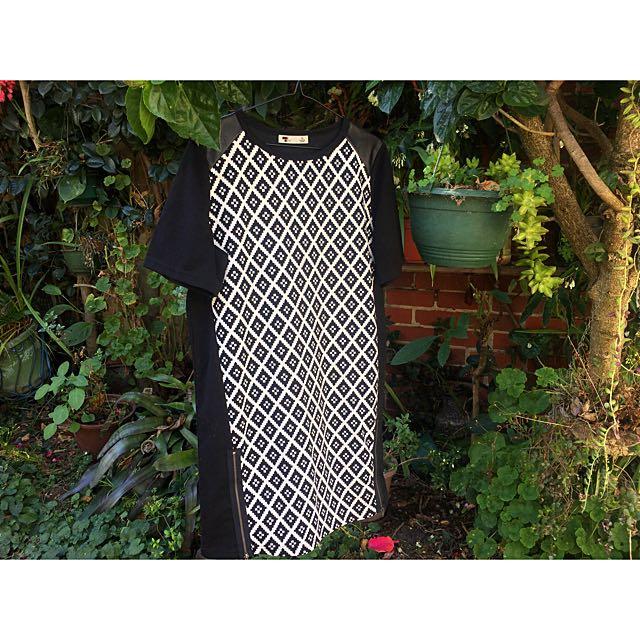 Black And White Tunic Dress ⚡️💕✨
