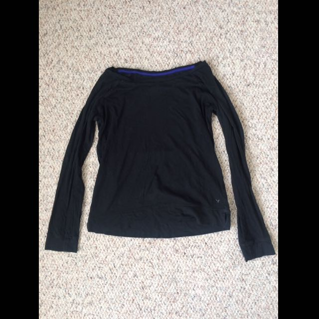 Black Long Sleeve Short