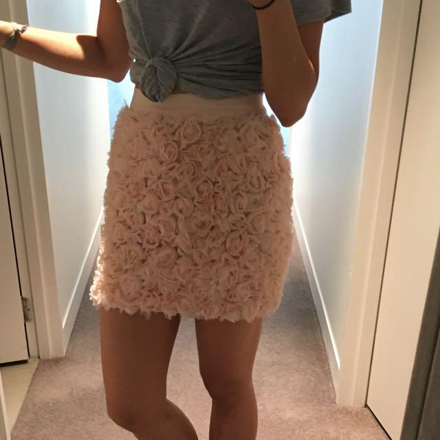 Blush Pink Floral Skirt 6