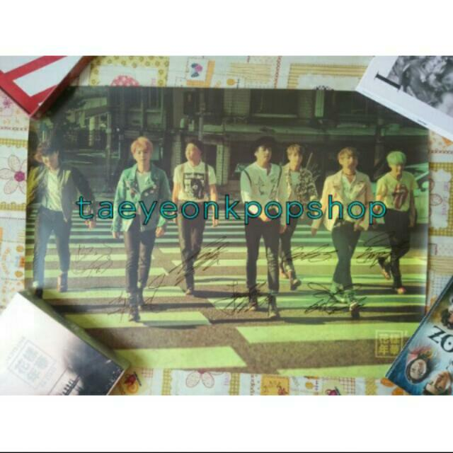 [Clearance Sale] BTS Hyyh Pt2 Group Poster Autographed By All Members