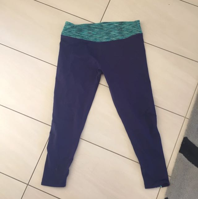 Dark Blue Full Length Gym Pants