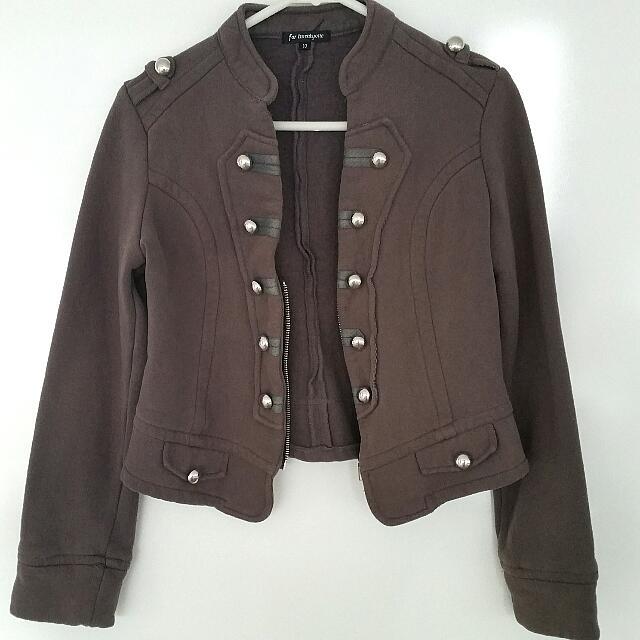 Dark Grey Military Jacket