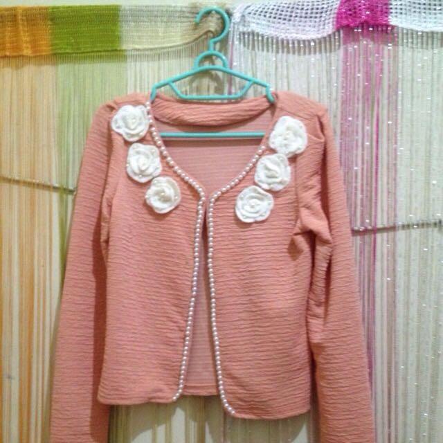 dijual preloved blazer/outer/cardigan murah meriH bahan import