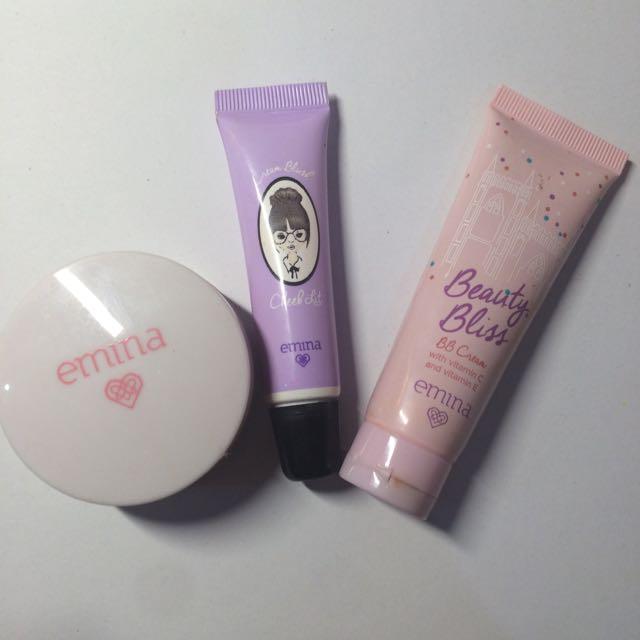 Emina Bundle - Loose Powder, Cream Blush & BB Cream