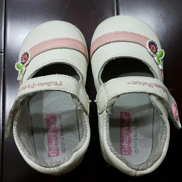 Fisher Price Pink White Leather Shoes Baby Girl Size 6