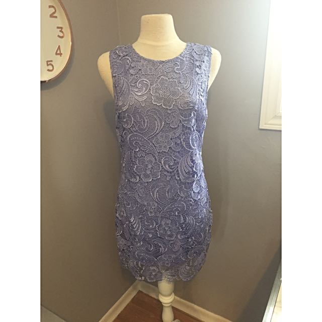 Forever 21 Periwinkle Lace Dress Size M/L