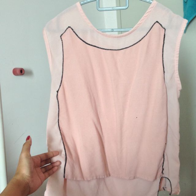 [Free Postage] Peach Top Singlet