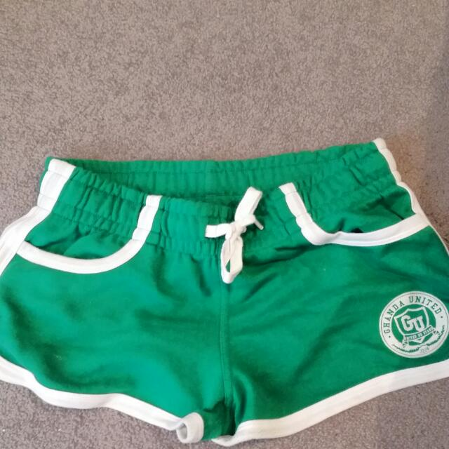 Ghanda Cotton Mini Track Shorts