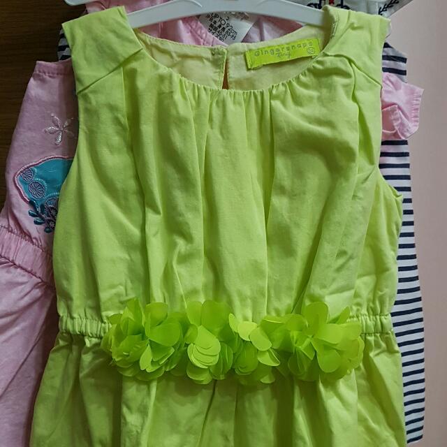 Gingersnaps Yellow Green Dress 24M