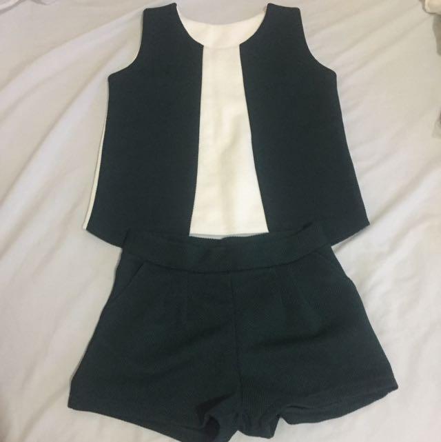 Green & White Terno