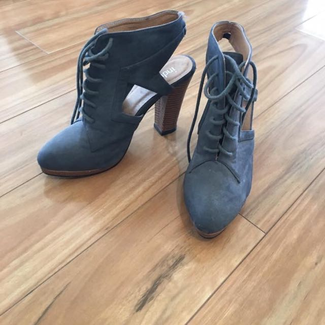 Grey Boots Size 7/8