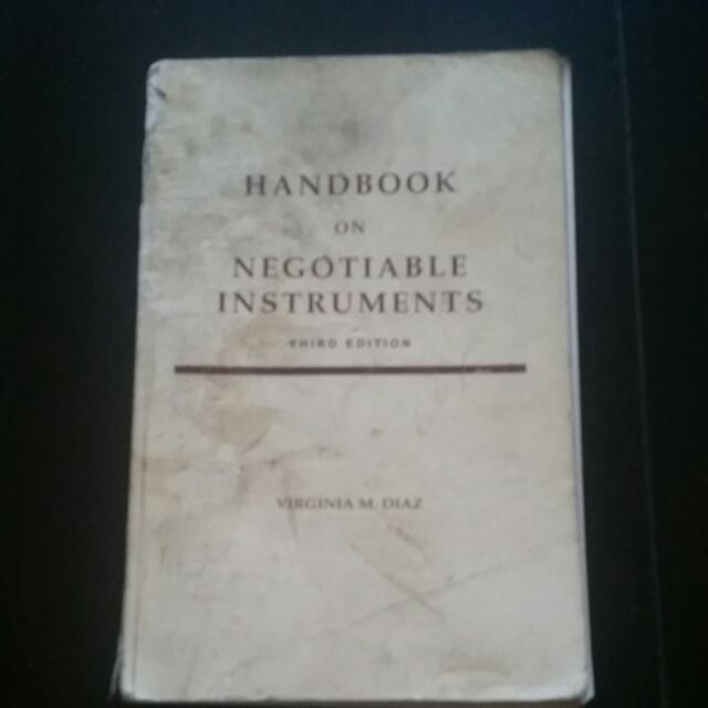 Hanbd Book On Negotioable Instruments