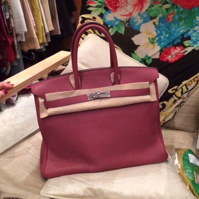 2ef9d2f86c6a Hermès Birkin 35 in Bois de Rose PHW