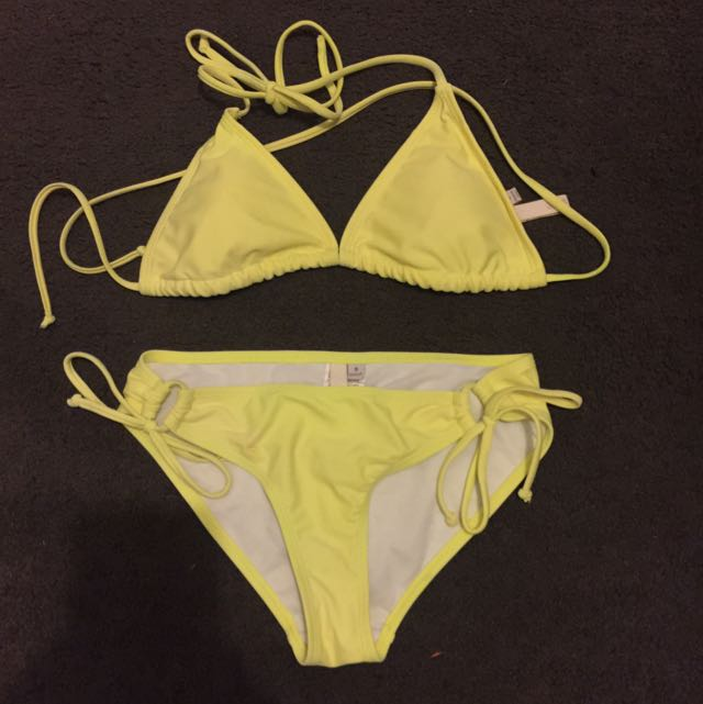 Highlighter Yellow Bikini