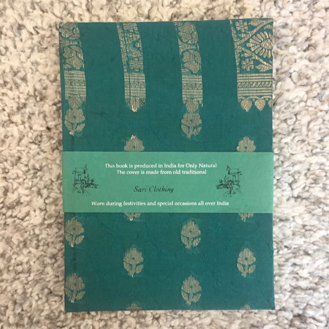 Indian Note Book With Textile Cover