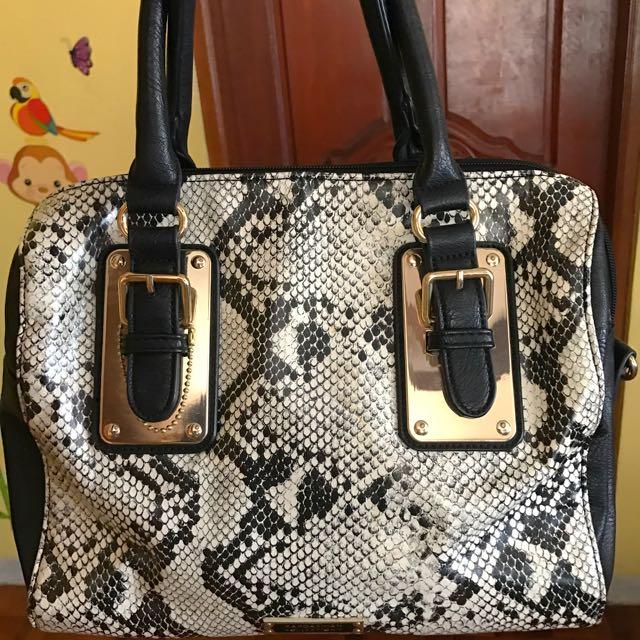 Kardashian Collection snake skin Bag