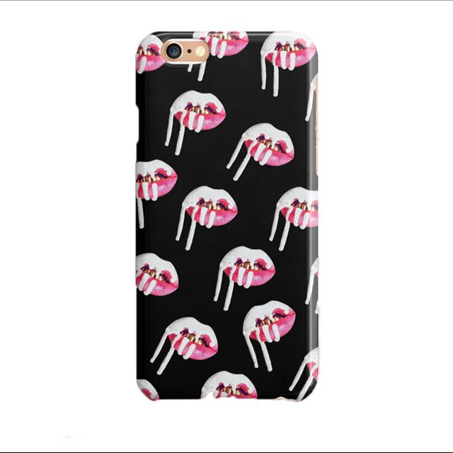 size 40 193db 5b4dd Kylie Lips Prints Black Phone Case