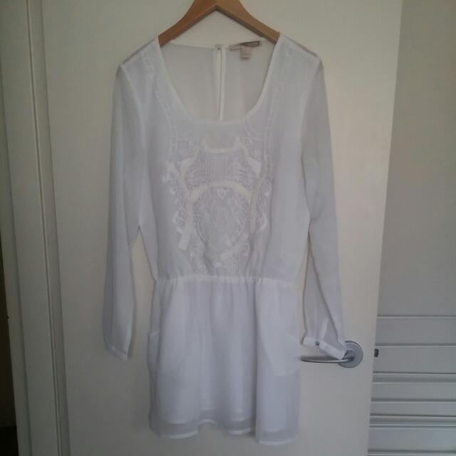 Ladies 'forever 21' White Dress