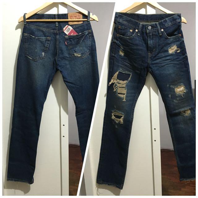 Levi's 511 Slim Destroyed Jeans