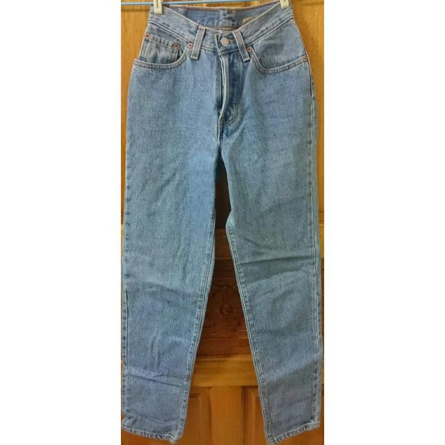 Levi's 女生 淺藍 牛仔長褲