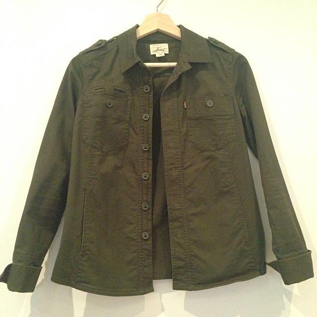 Levis Green Army Cargo Women's Jacket Xs