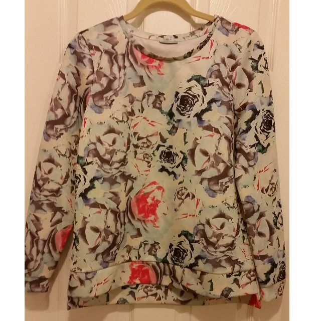 Like NEW Noisy May Floral Print Sweatshirt Size M