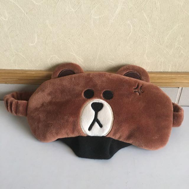 正版LINE FRIENDS 熊大眼罩