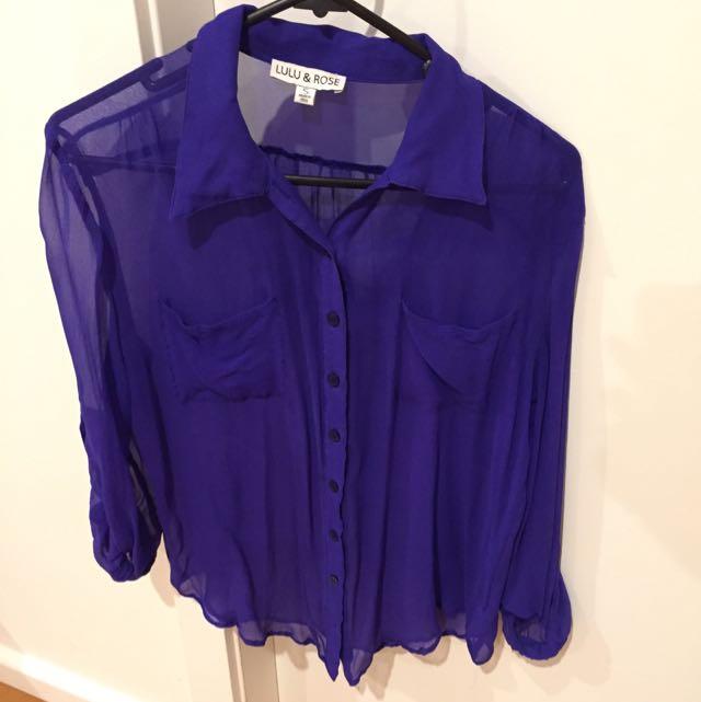 Lulu And Rose Electric Blue Shirt
