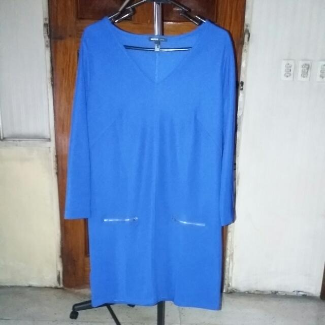 Mango Royal Blue Dress