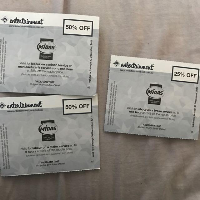 Midas Entertainment Voucers