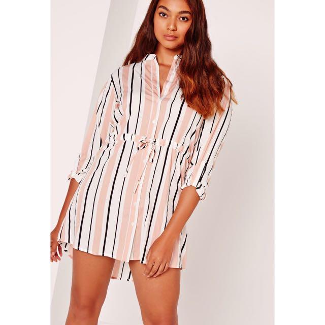 Missguided Striped Shirt Dress ✨BNWT✨