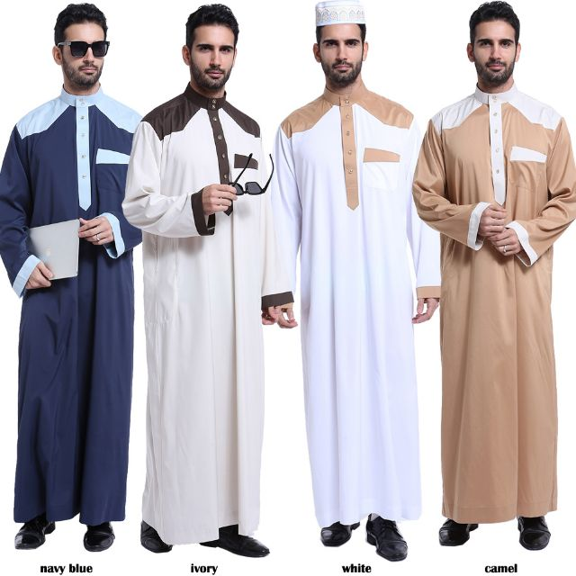 Muslim Men Jubah Mw10145 Men S Fashion Clothes On Carousell