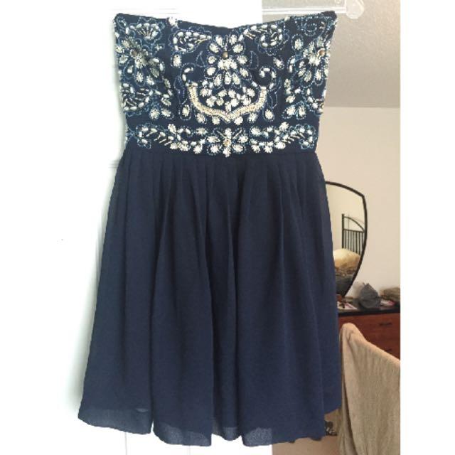 Navy blue Short Prom Dress