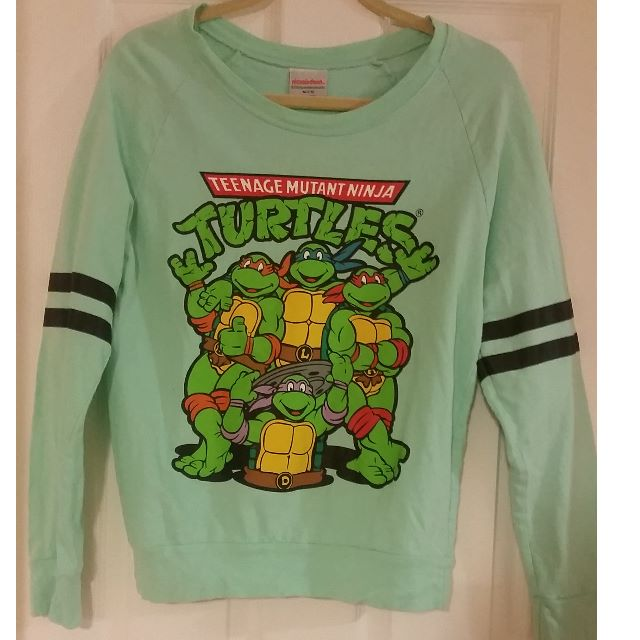 Nickelodeon NINJA TURTLES Retro Sweatshirt Size M