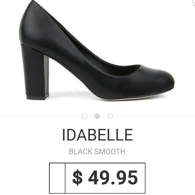 NOVO Black Pump Heels Size 9 'Idabelle' Current Season