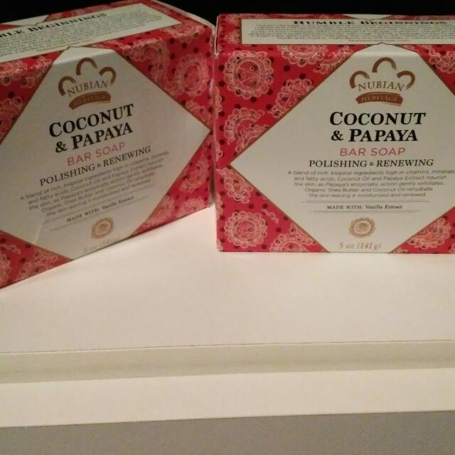 Nubian Heritage Coconut + Papaya Soap
