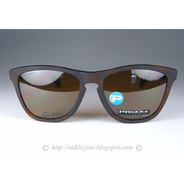 Oakley Frogskins Asian Fit matte tortoise + prizm tungsten polarized  oo9245-5054, Men's Fashion, Accessories on Carousell