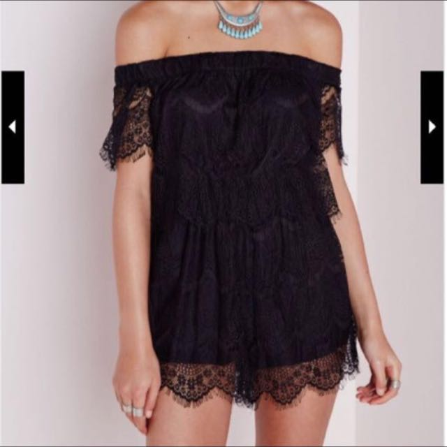 Misguided Off Shoulder Playsuit Size 8