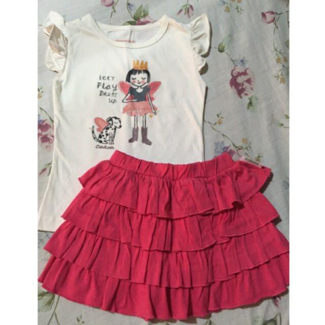 Oshkosh Blouse & Skirt Set