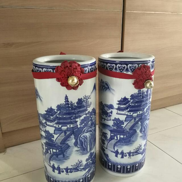 Pair Of Fengshui Vase Furniture Home Decor On Carousell
