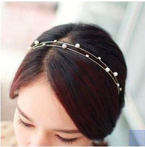 Pearl & diamond duo hairband