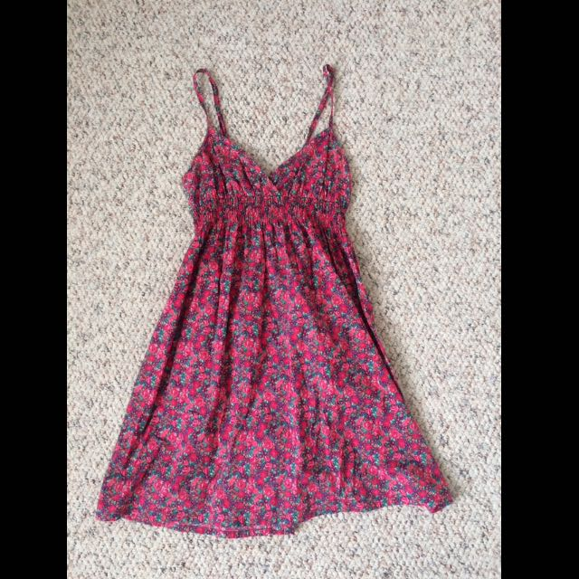 Pink Flowered Dress