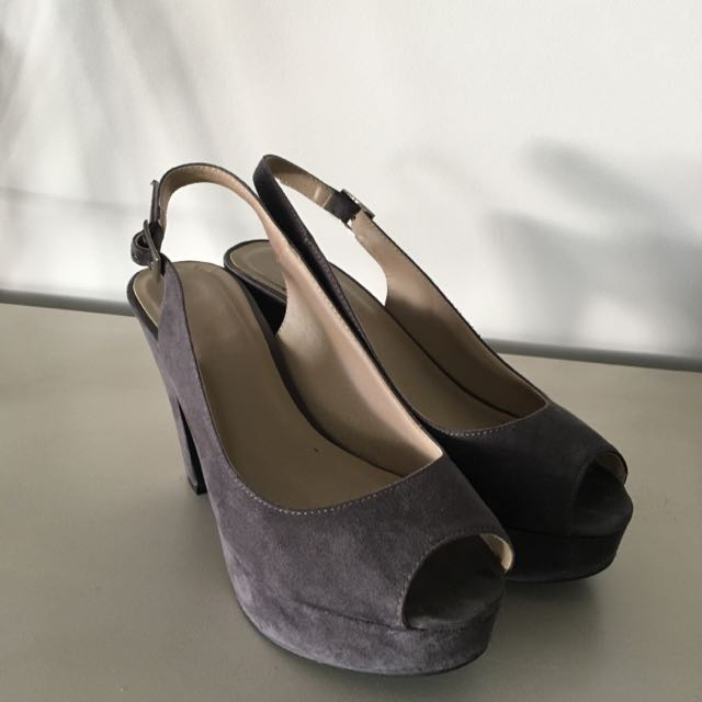 Platform Sling Back Shoes