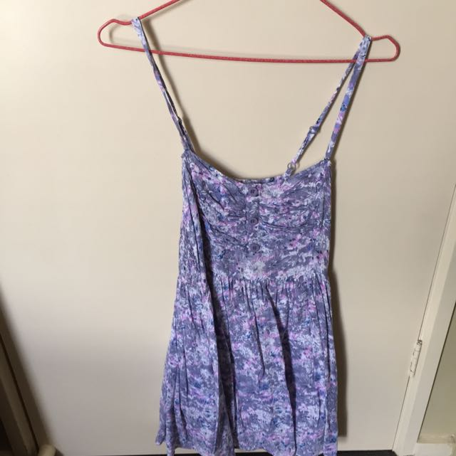 Purple Floral Summer Dress