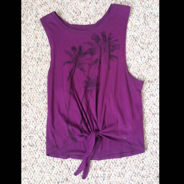 Purple Palm Tree Tank Top