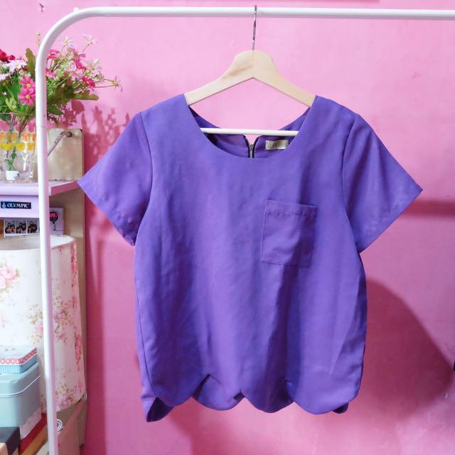 Purple scalop Top