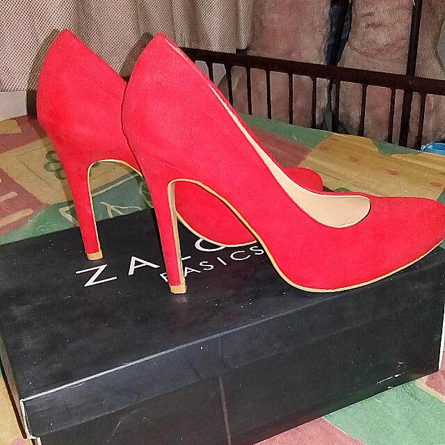 Red Basic Suede Pumps ZALORA