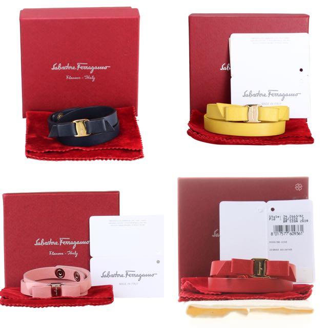Salvatore Ferragamo Varra Double Wrap Bracelet
