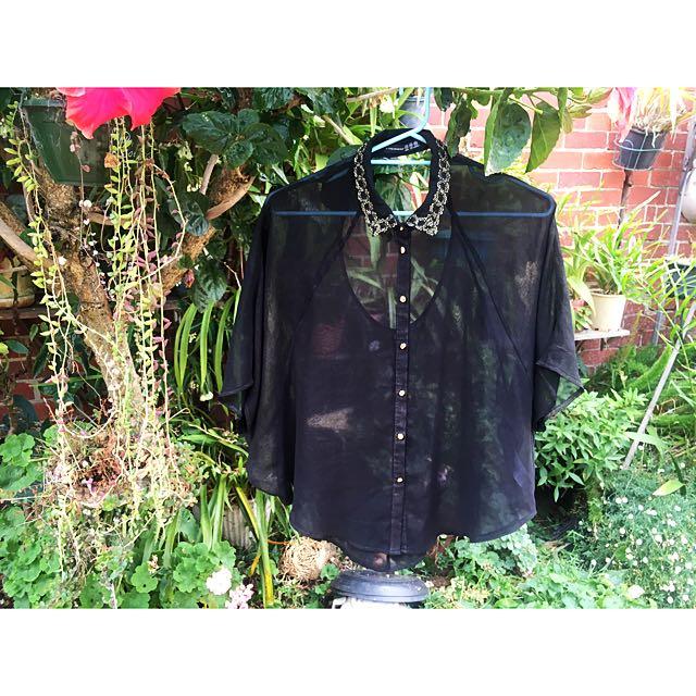 Sheer Black Shirt ✨🇬🇧✨