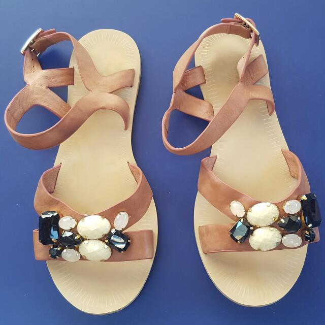 Sportscraft Flat Sandals With Beads